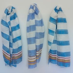 Accessories - Azure and Sky Blue Scarves